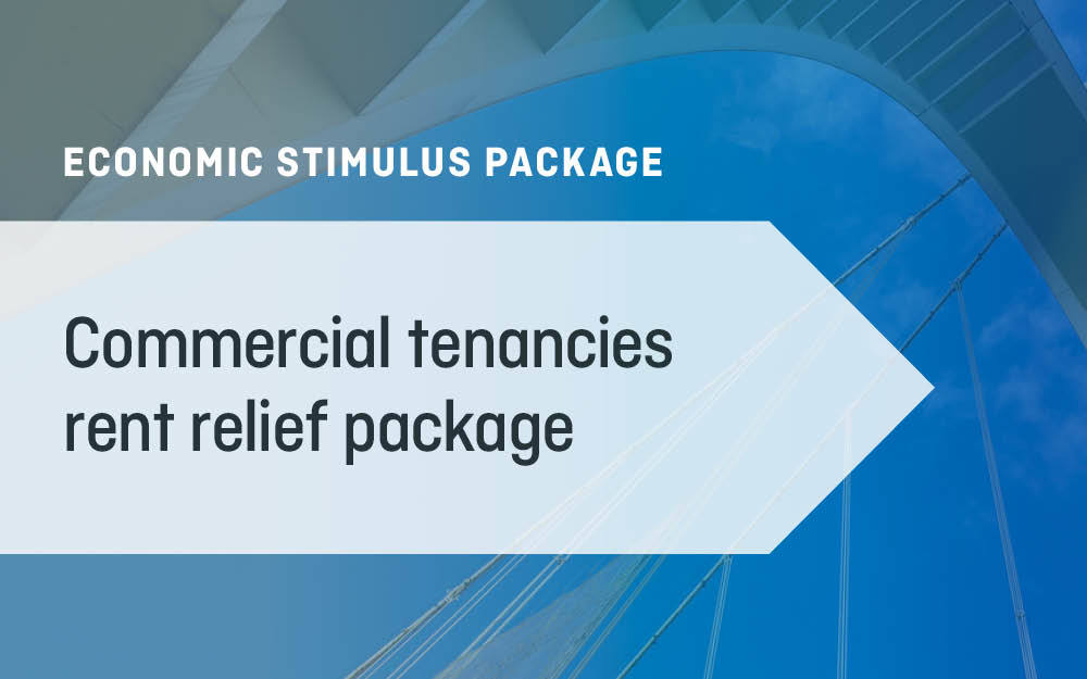 Commercial tenancies rent relief package