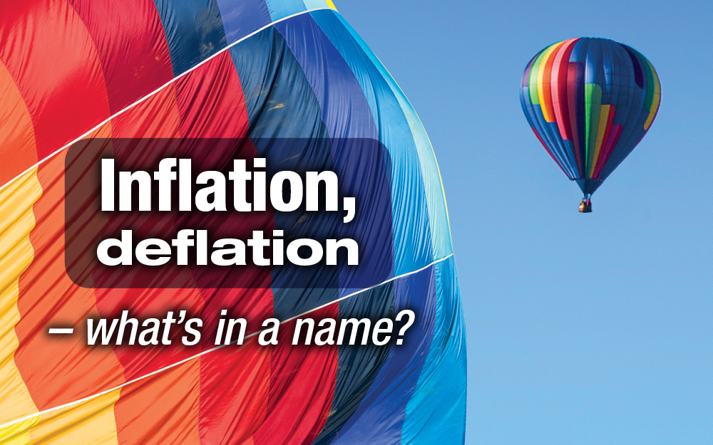 Inflation, deflation - what