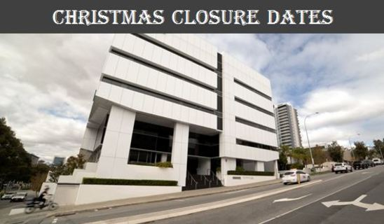 Office Closure December and January