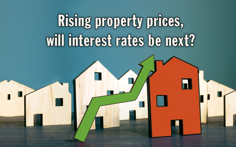 Property prices are rising, will interest rates be next?