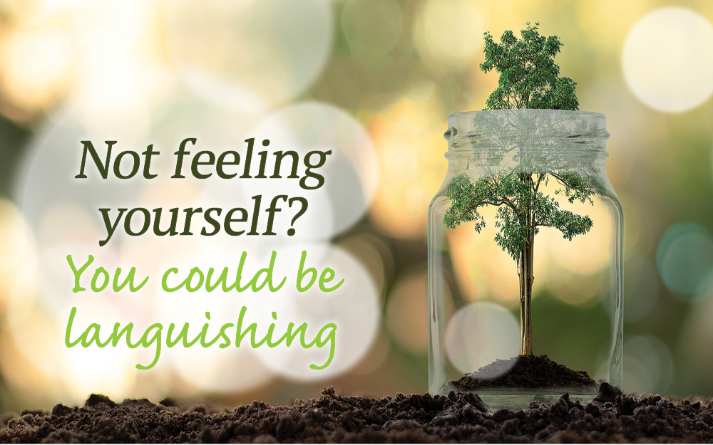 Not feeling yourself? You could be languishing